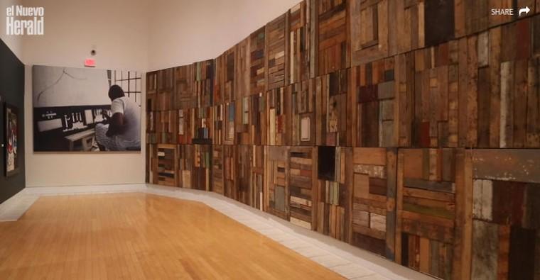 Vista parcial de la exposición 'Diago The Past of this Afro Cuban Present', Lowe Art Museum de la Universidad de Miami