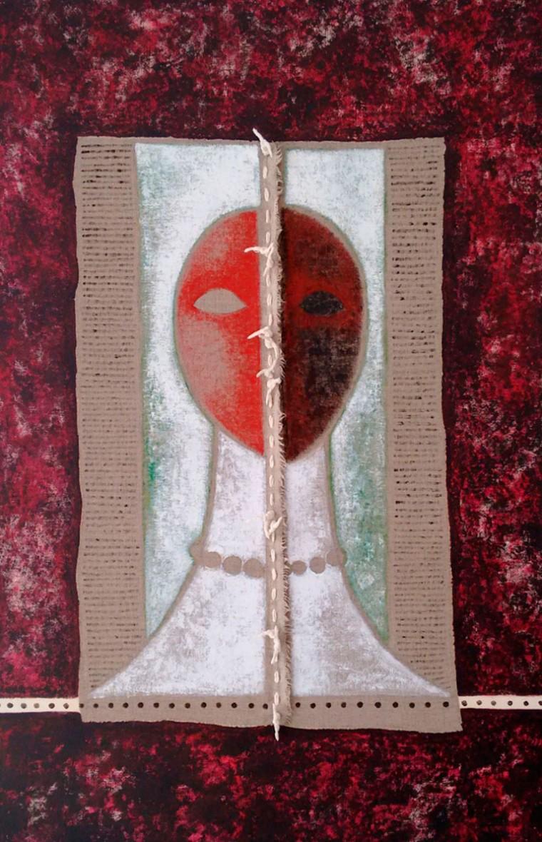 Dolor, 2016. Mixta sobre tela. 100 x 65 cm