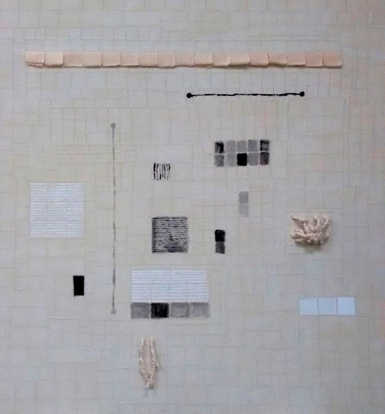De la serie Ilusiones, 2015. Mixta sobre tela.170 x 150 cm