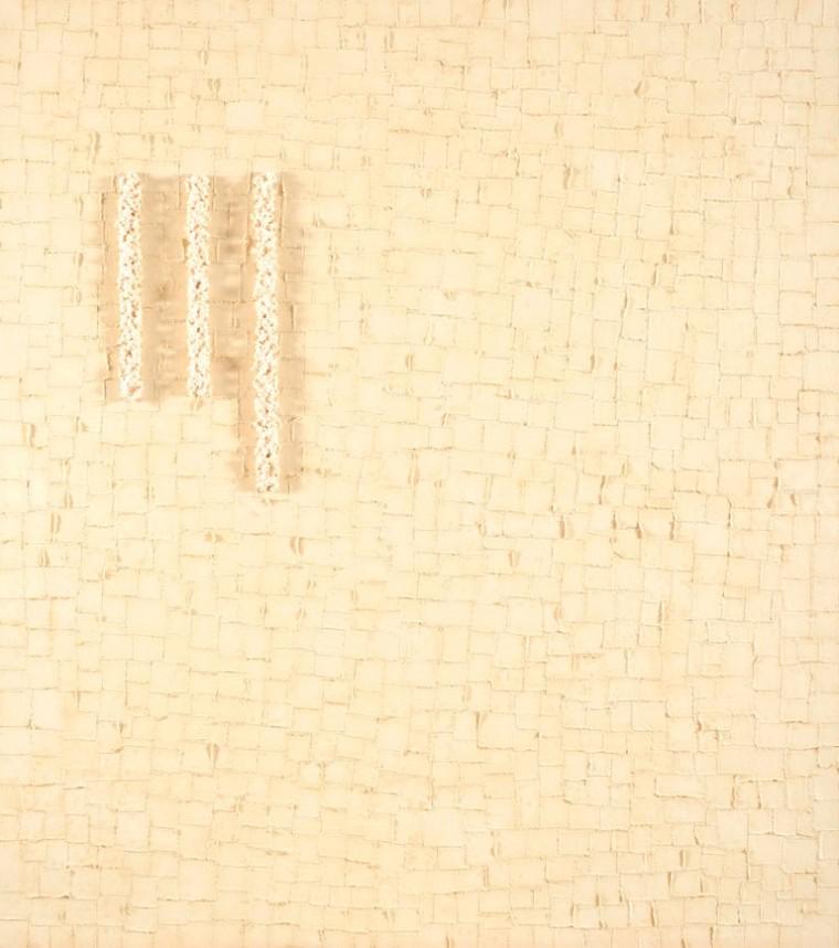 Sobre mis pasos, 2015. Mixta sobre tela. 170 x 150 cm