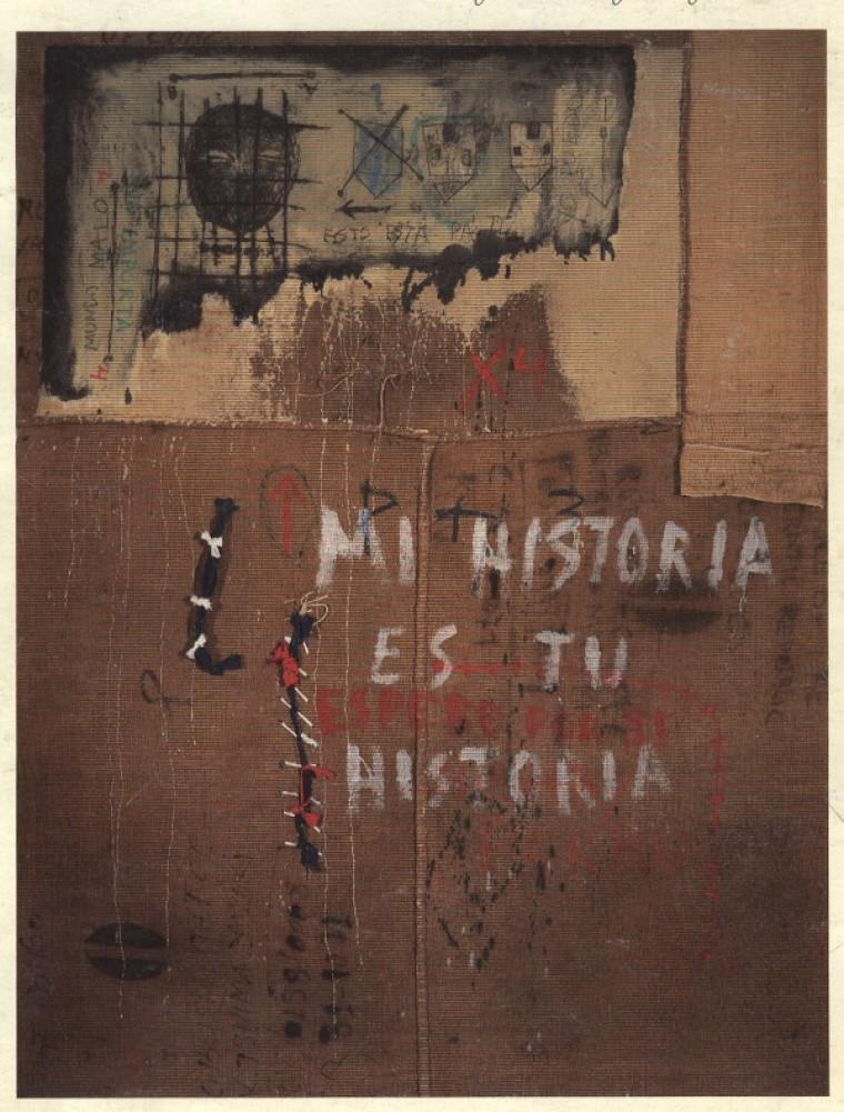 Mi Historia es tu Historia, 2000, Mixta sobre lienzo, 89 x 68.5 cm.