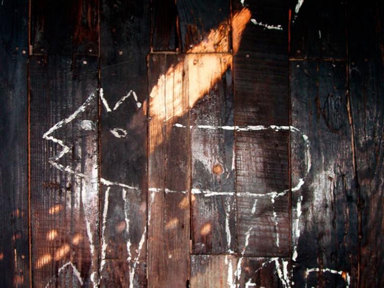 De la serie Aquí lo que no hay es que morirse, 2003. Mixta sobre madera. 120 x 87 cm.