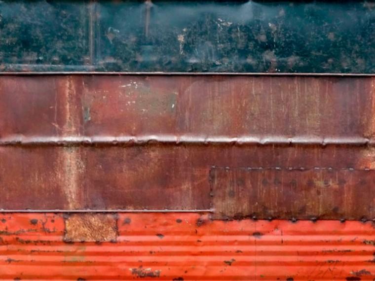 De la serie Desde el silencio, 2013. Mixta sobre Metal. 200 x 100 cm