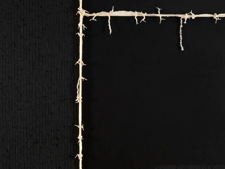 De la serie La piel que habla, 2014. Mixta sobre tela.170 x 150 cm