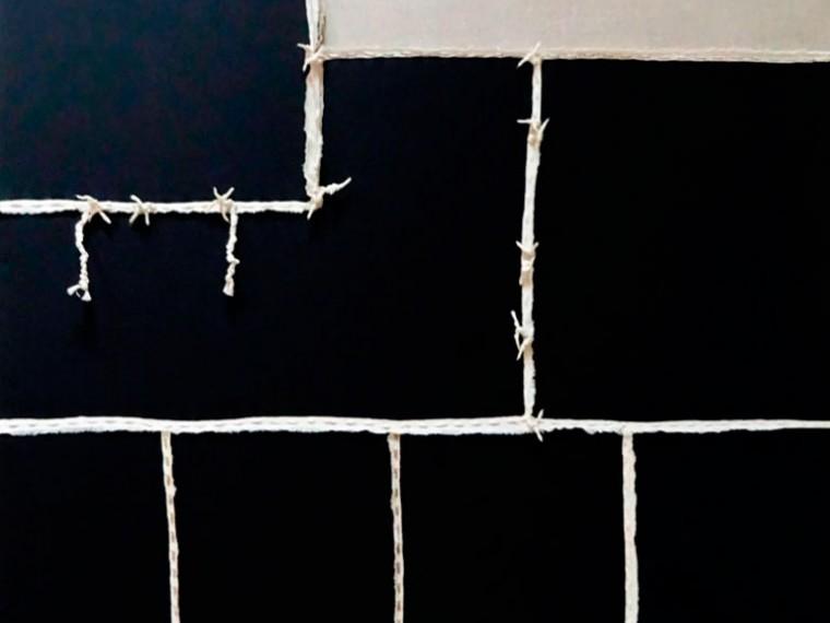 De la serie La piel que habla, 2014. Mixta sobre tela. 130 x 100 cm